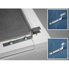 Крепеж для москитной сетки узкий металл, пара