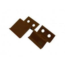 Крепеж для москитной сетки (коричневый), пара