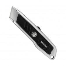 Нож Smartbuy 18 мм, прорезиненный стальной корпус
