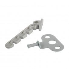 Ограничитель открывания металл (белый)