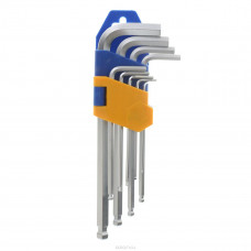 Ключ шестигранник ПРОФИ набор 9 шт. 1.5-10 мм с шариком