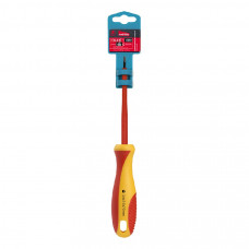 Диэлектрическая отвертка Smartbuy Tools шлицевая SL2.5*75, до 1000В, VDE сертификат, испытания