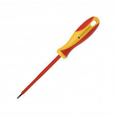 Диэлектрическая отвертка Smartbuy Tools шлицевая SL3*100, до 1000В, VDE сертификат, испытания