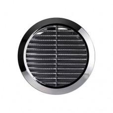 Вентиляционная решетка 48 мм + протекторное кольцо (черная)