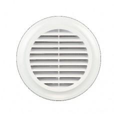 Вентиляционная решетка 48 мм + протекторное кольцо (белая)