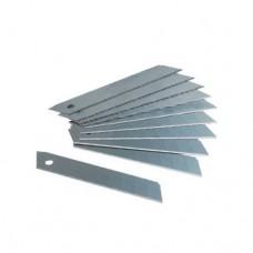 Лезвия сменные отламывающиеся МАМОНТ 18 мм, толщина 0.5 мм (10 штук)