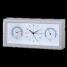 Термо-гигрометр биметаллический с часами исп.1