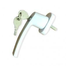 Ручка с ключом белая